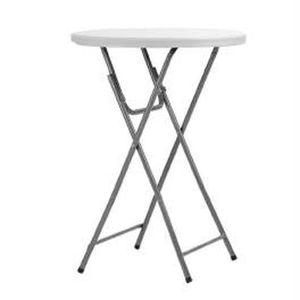 MANGE-DEBOUT Table haute mange debout en acier et polyéthylène
