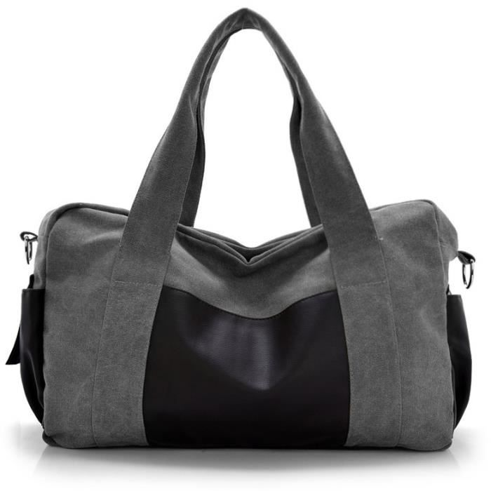 sac à main Mode toile Les hommes et les femmes Paquet Cylinder Designer de grande capacité Casual Notebook Bag-2