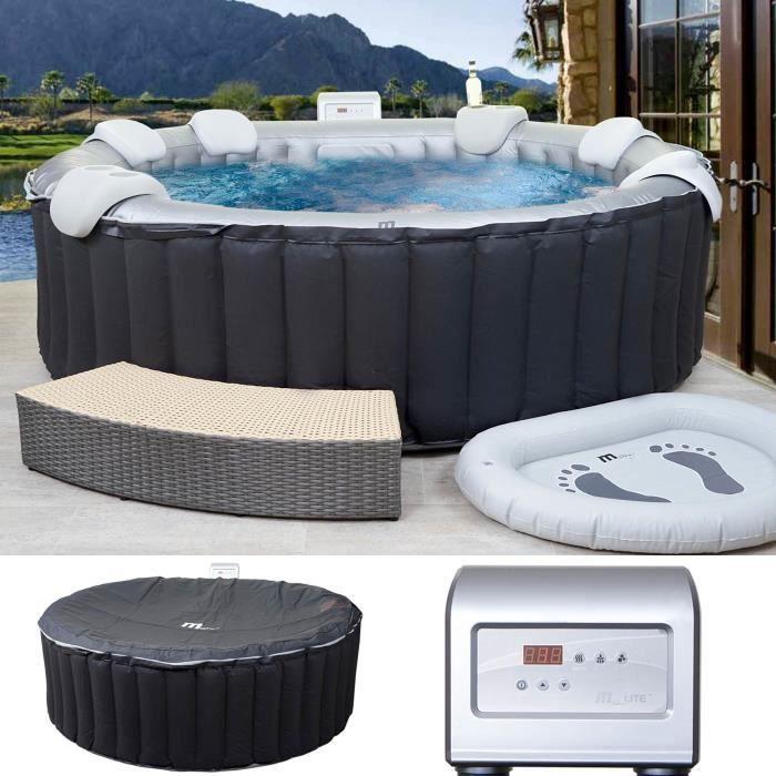 spa pour 6 personnes interieur ou exterieur diametre 204 cms achat vente spa complet kit. Black Bedroom Furniture Sets. Home Design Ideas
