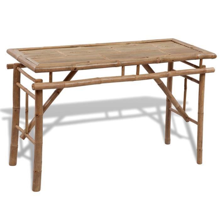 Bambou Bancs Picnicbiere En Table Avec Pliable 2 De 35ARLq4j
