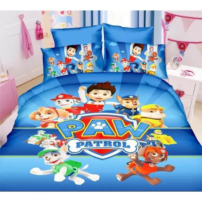 parure de lit enfant pat patrouille paw patrol achat. Black Bedroom Furniture Sets. Home Design Ideas