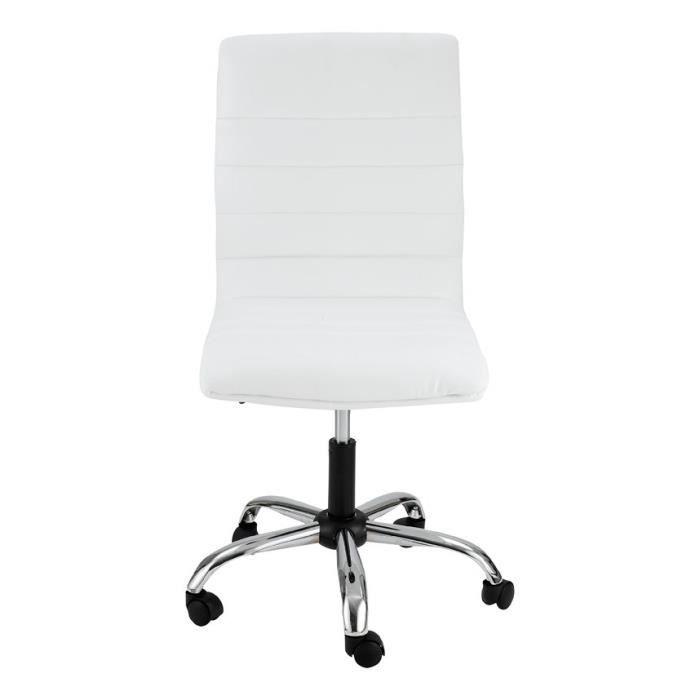 Chaise De Bureau Blanche Zoe IdClik