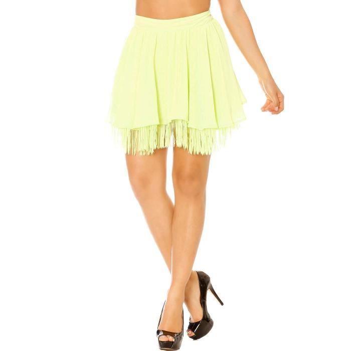 Miss Wear Line - Jupe évasée verte à franges Vert Vert - Achat ... fbdbaed0f43c