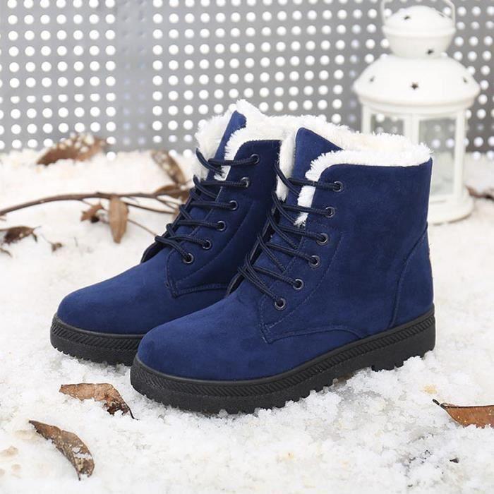 Nouvelles chaussures chaudes des femmes classiques bottes de neige mode hiver courtes bottes