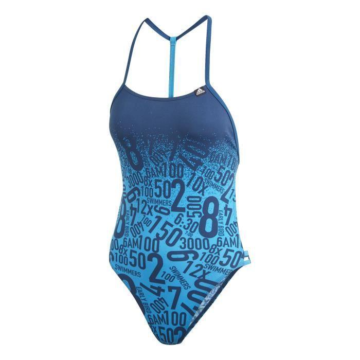 482215f78 Haut de maillot de bain femme adidas Pro Collab Bleu Bleu cyan ...