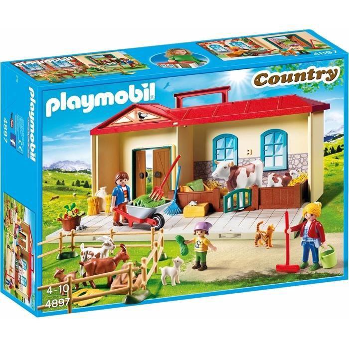 ferme transportable playmobil achat vente jeux et jouets pas chers. Black Bedroom Furniture Sets. Home Design Ideas