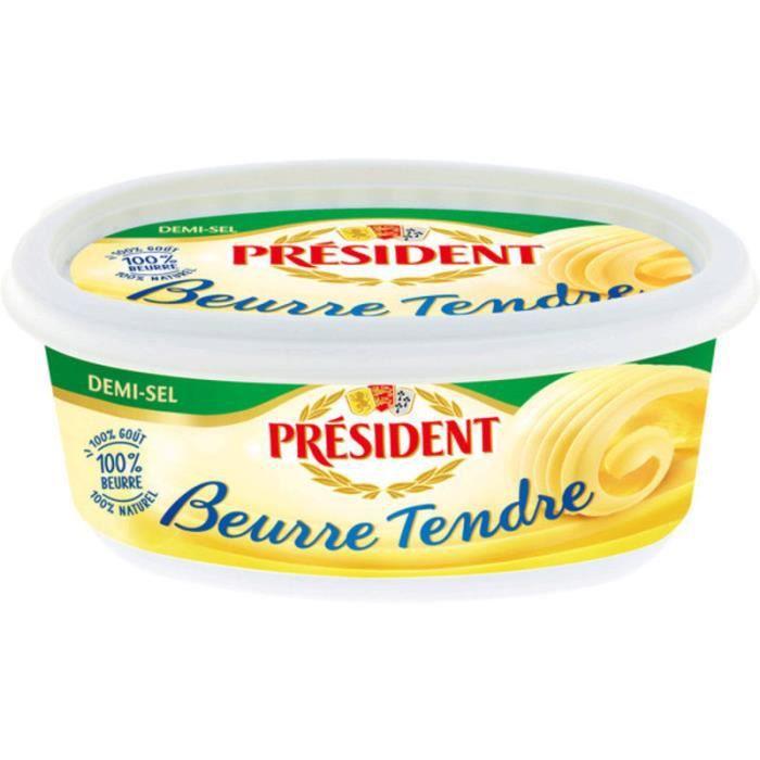 President beurre tendre demi sel beurrier 250g achat vente beurre beurre tendre demi - Beurre demi sel maison ...