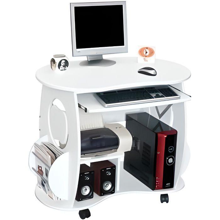 bureau informatique pixel blanc achat vente bureau bureau informatique pixel blanc cdiscount. Black Bedroom Furniture Sets. Home Design Ideas