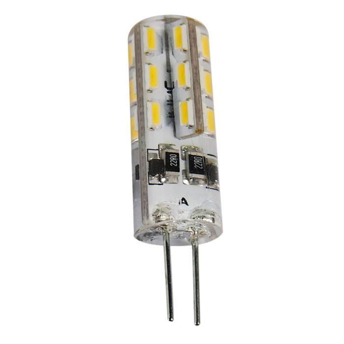 G4 1.5W SMD 3014 24 LEDs cristal lumières Spotlight Lampe Ampoule DC 12V blanc chaud