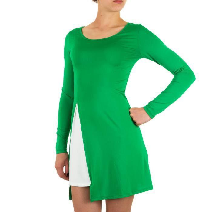 Femme robe élastique robe dété robe fête Loisirs robe tunique robe tunique