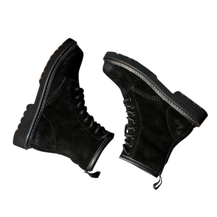 Femme Fille Martin Boots Ankle en Cuir à Lacets 634p0ZXb
