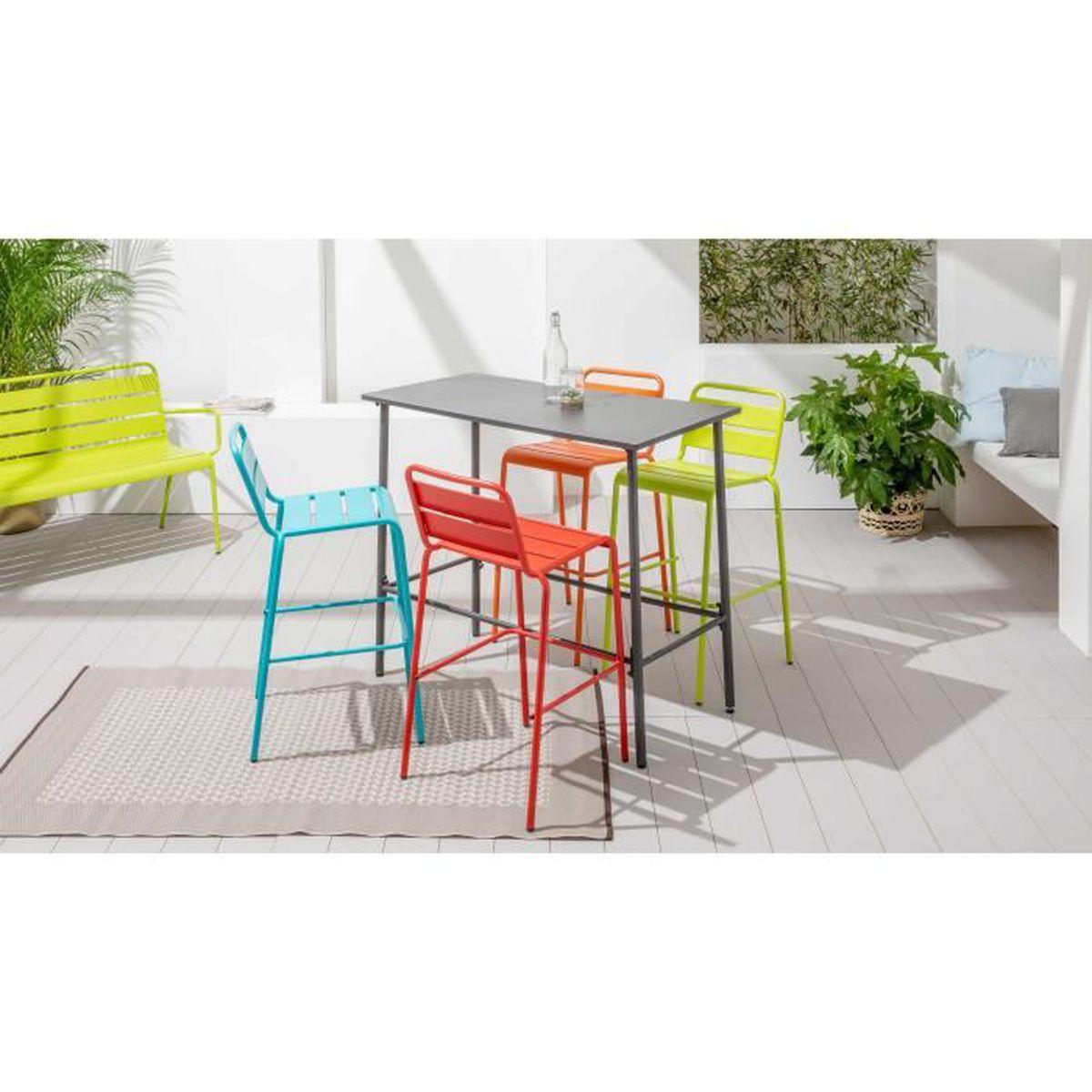 Table haute de jardin en métal