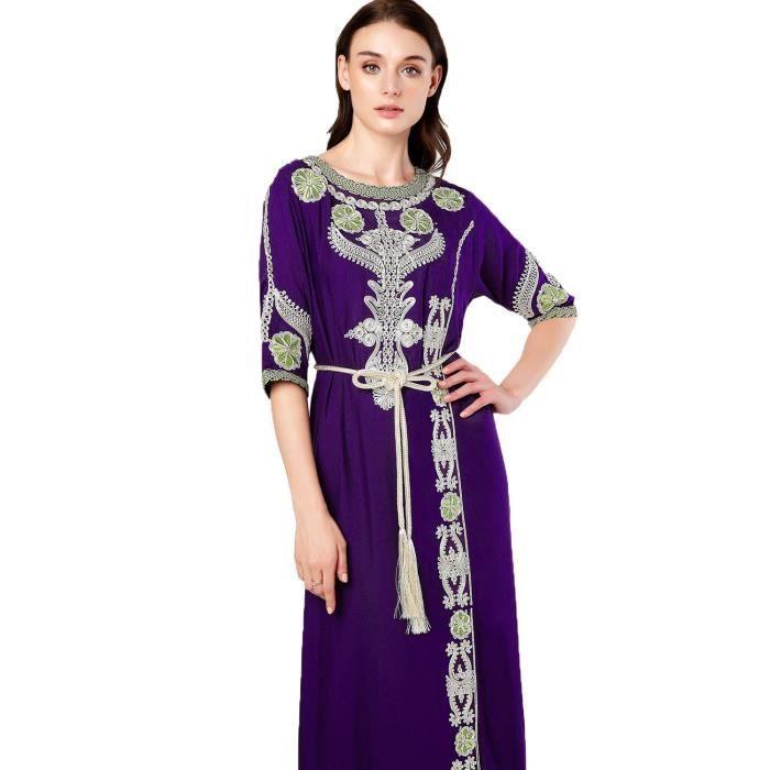 ... Musulman islamique A - jalabiya Kaftan Caftan Femmes Dubai Maxi Robe  longue pour les vêtements Rayon be0eb68d4d3