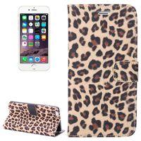 HOUSSE - ÉTUI House en cuir iPhone 6 Plus 6S Leopard motif impri