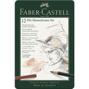 CRAYON DE COULEUR FABER-CASTELL Set PITT Monochrome pro