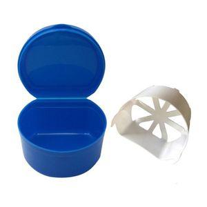 POUBELLE TRI SÉLECTIF Dentier Bath Box Case dentier Boîte de filet Avec