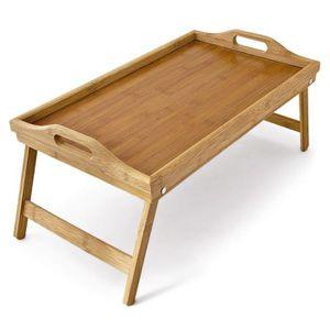 PLAT DE SERVICE Plateau de lit pliable en bambou table d'appoint p
