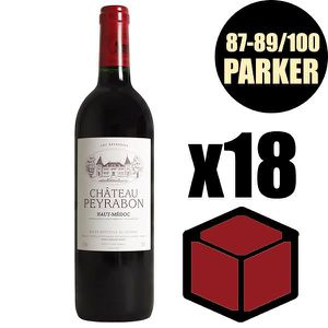VIN ROUGE X18 Château Peyrabon 2014 75 cl AOC Haut Medoc Rou