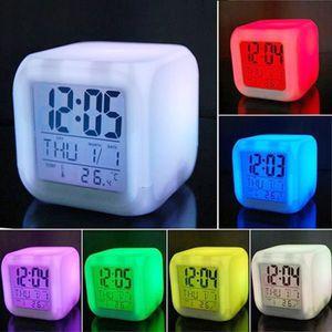 SIMULATEUR D'AUBE 7 Couleur LED Réveil Horloge Changeable Électroniq