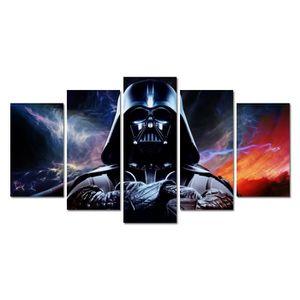 OBJET DÉCORATION MURALE Sans cadre Peinture Imprimé Star Wars 5 pièce imag