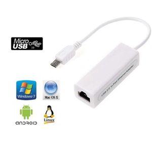 CÂBLE RÉSEAU  CABLING® Adaptateur Ethernet port micro-USB 5 broc