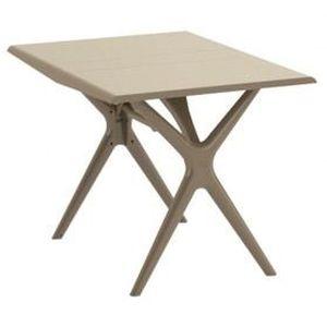 Table pliante Sigma - 115x75 cm - taupe GROSFILLEX - Achat / Vente ...