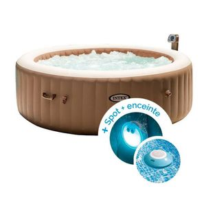 SPA COMPLET - KIT SPA Spa gonflable Intex PureSpa Bulles 6 personnes + S