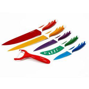 COUTEAU DE CUISINE  Set de 5 couteaux + Eplucheur Céramique