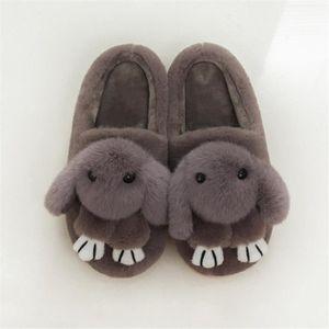 Chaussons hommes mignonne chien pantoufle homme chaud hiver peluche dessin animé Cosplay Confortable chaussure dssx334vert42 pGDNJg