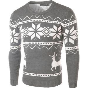 PULL Noël Pull homme de Marque luxe pull à col rond et