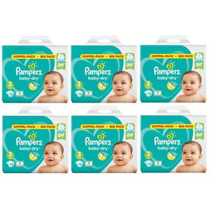 COUCHE  Pampers Baby Dry Taille 3 Midi 6-10kg 456 Couches