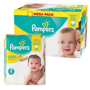 COUCHE 124 Couches Pampers New Baby Premium Protection ta