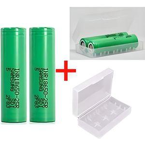 BATTERIE E-CIGARETTE Pack 2 Accu Samsung INR18650-25R 2500mAh + 1 Boite