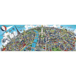 PUZZLE Puzzle panoramique 1000 pièces : Paris aille Uniqu