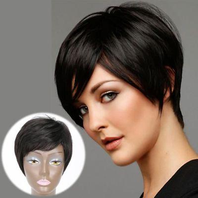 perruque femme noire perruques courtes pour
