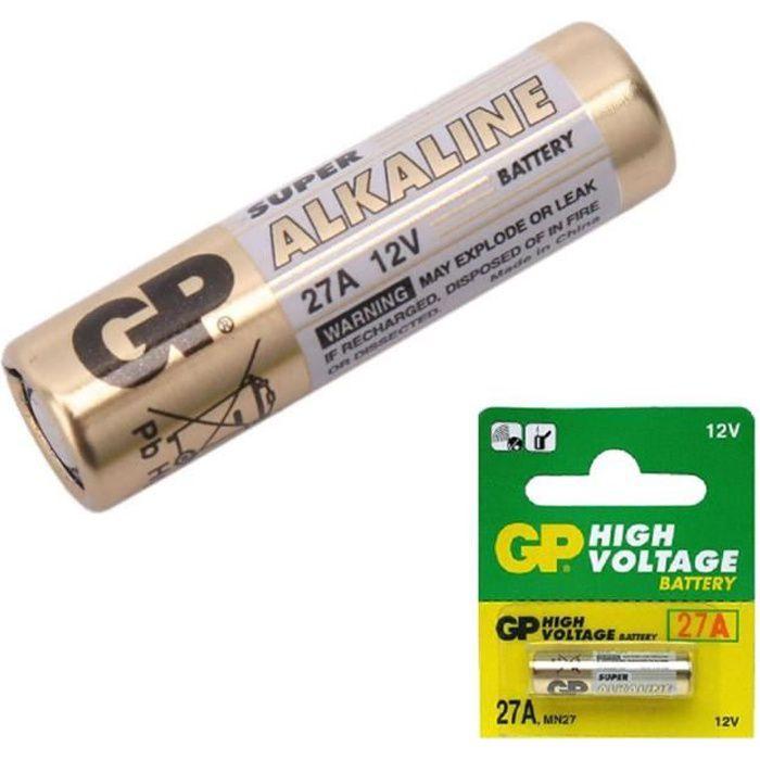 Piles Pour Piles Et Chargeurs Piles Télécommandes 27a Blister De 1 Pile 12v Type G Mn27 Gp A27 L828 El812 El 812 Ca22 De