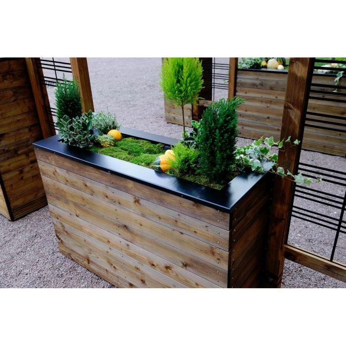 Bac fleurs long selekt 120 achat vente jardini re pot fleur bac fleurs long selekt 120 - Grande jardiniere en plastique ...