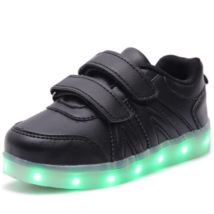 2016 nouveaux enfants USB charge baskets enfants LED lumineux chaussures garçons filles de colorful clignotant lumières sneakers