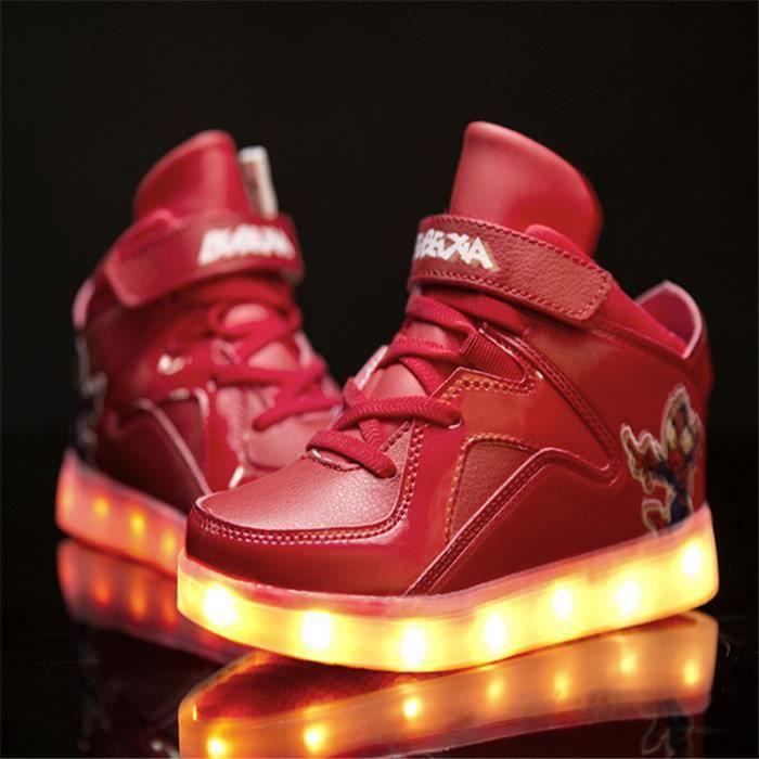 Chaussure LED enfants charge haut-dessus