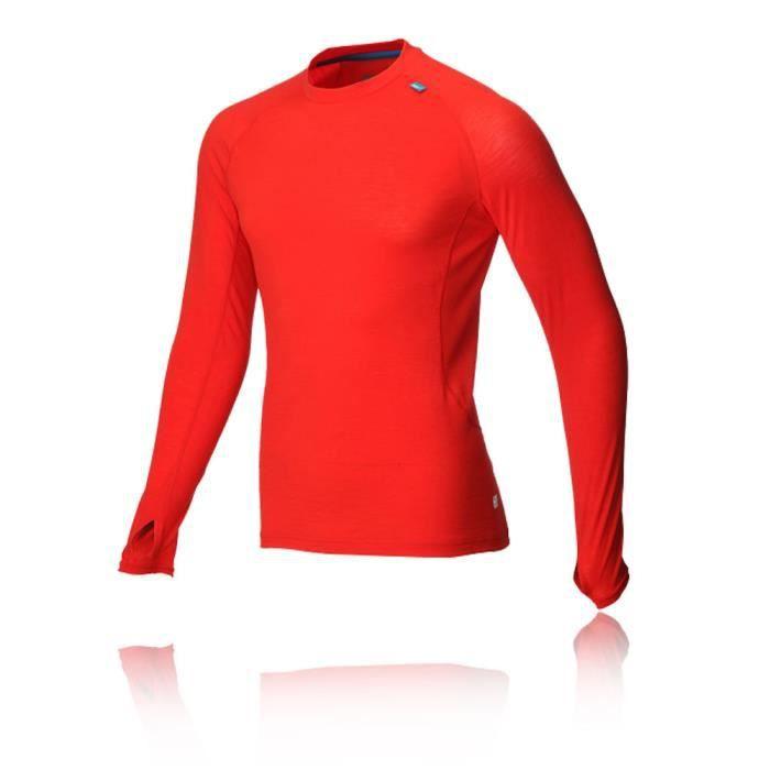 Atc Top Rouge Inov8 Manche De Mérinos Sport Running Homme Longue adawtq