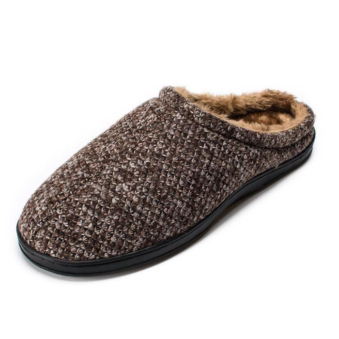 Confort tricotée en peluche anti-dérapantes Sole Maison Slipper Chaussures Indoor OKYZ9 Taille-43