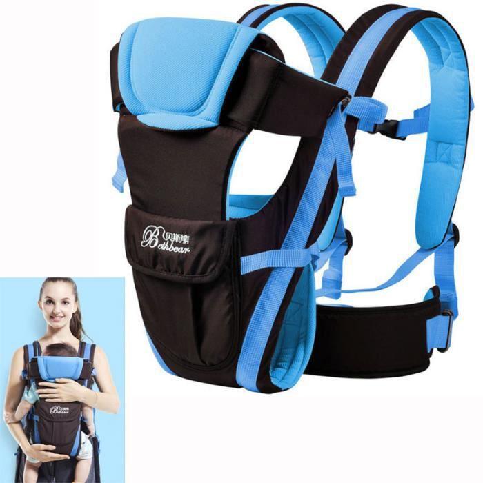0-24 mois Respirant Multifonctionnel Face avant Porte-bébé Enfant Sac à dos  confortable Sling Emballage Bébé Kangourou afea98340bf