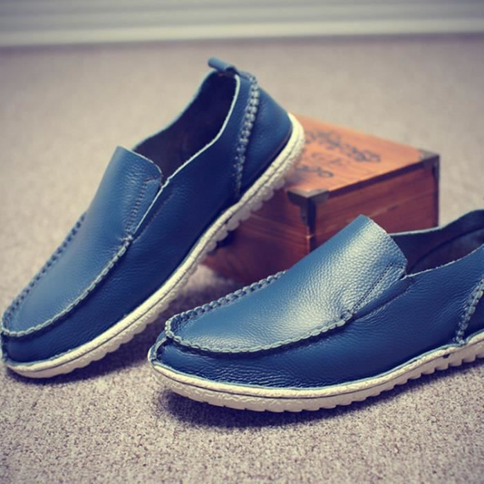 Homme cuir chaussure moccasins chaussure de sport chaussure de loisirs homme