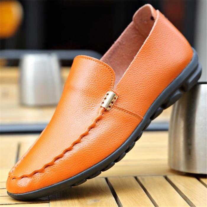 moccasin hommes en cuir Antidérapant Loafer Haut qualité moccasin homme marque de luxe chaussures 2017 nouvelle mode Grande Taille