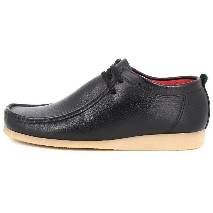 Cuir Noir Mocassins en Belym Bateaux Hommes Chaussures H8wwXqT