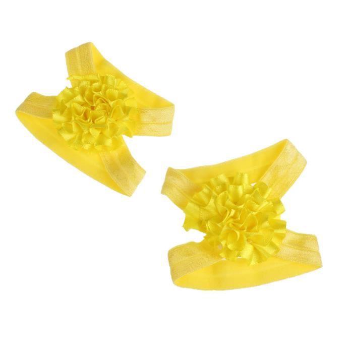 Napoulen®Pied fleurs coloré pieds nus sandales et bandeau ensemble pour bébé enfant fille-XPP10202128 C7QxugXOwY