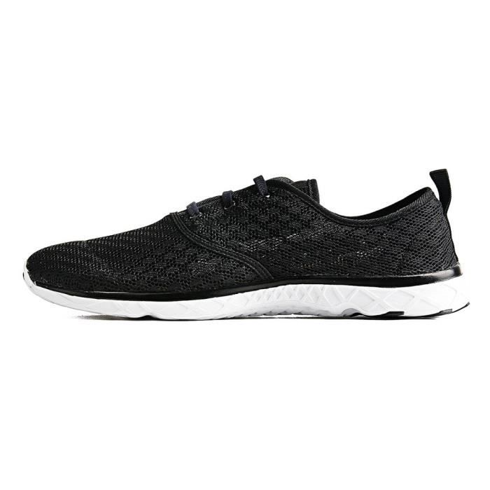 Water Shoes Mens Quick Drying Aqua Shoes Beach Pool Shoes Mesh Slip On GORZH Taille-46 tbl6uPG