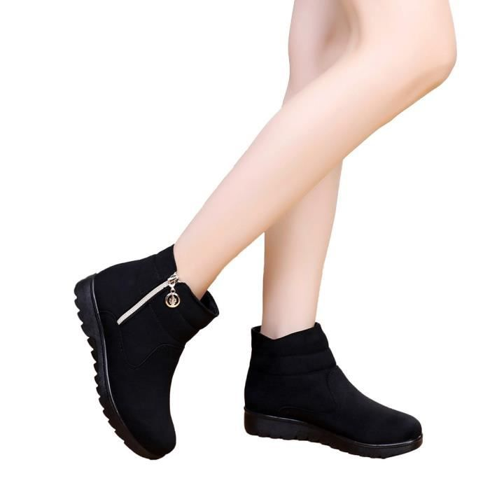 Femme Hiver Bottes Neige aged Bottine Chaud Casual Boot Chaussures 5887 Femmes Moyen Veberge qtwpnOta