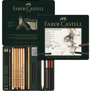 KIT DE DESSIN FABER-CASTELL Set PITT Monochrome 21 pièces