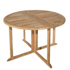 Table de jardin ronde en teck - Achat / Vente Table de jardin ronde ...